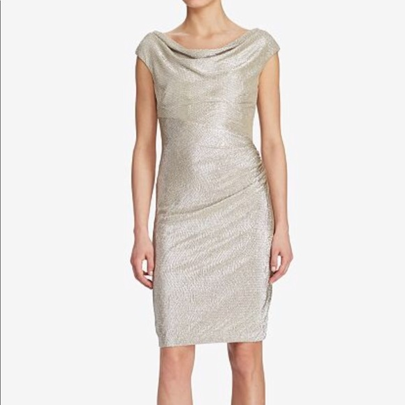 eafa4eb40d3 Lauren Ralph Lauren Dresses   Skirts - Ralph Lauren gold dress   Macy s  right now!